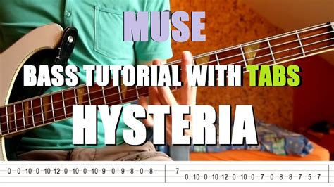 Muse - Hysteria (Bass Tutorial with TABS) - YouTube