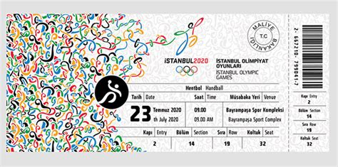Istanbul 2020 Olympic Games Ticket Design on Behance