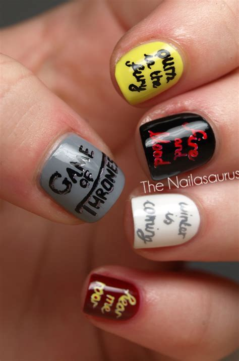 You Win or You Die (Game Of Thrones Nail Art) - The