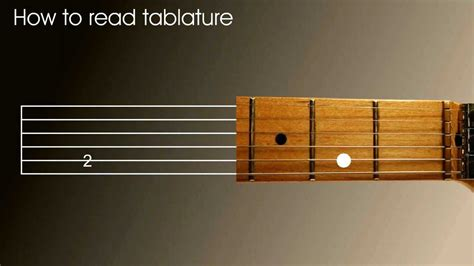 Left Handed guitar lesson - How to read tablature (tab) in