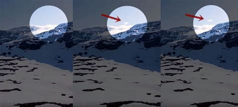 Cloaked V-shaped UFO leaving a mountain in Sweden