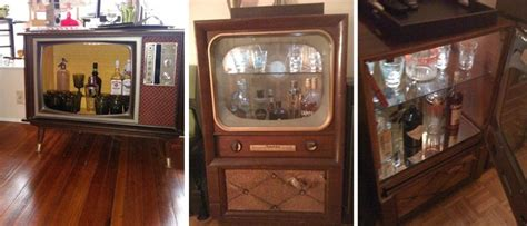 8 DIY Inspirations: From Old TV To A Bar   wastehunter