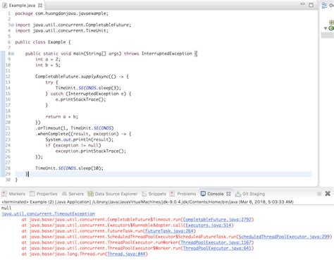 orTimeout() method of CompletableFuture object in Java