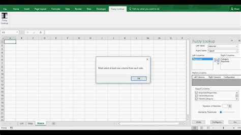 Excel Fuzzy Lookup/Match Tutorial for Data Mapping