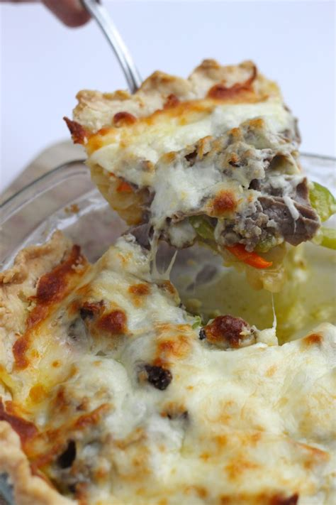 Where Your Treasure Is: Philly Cheese Steak Pie