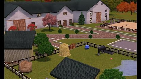 Sims 3 : Horse Stable- Friesian Equestrian Centre - YouTube