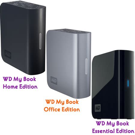 My Book Home Edition, Office Edition and Essential Edition