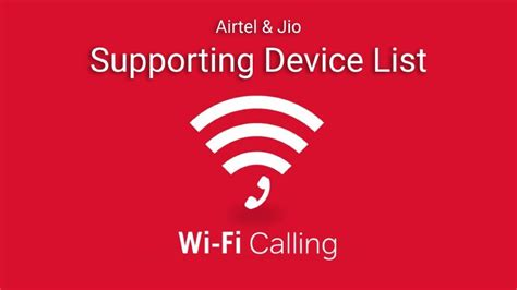 List of Handset that Supports Airtel and Jio WiFi Calling