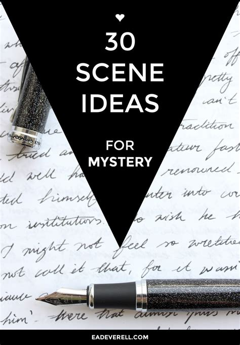 Mystery Writing Prompts - 30 Scene Ideas for Mystery