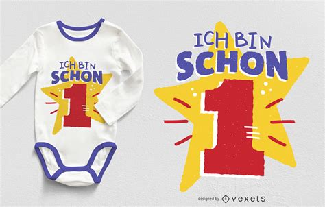 One Year Old T-shirt Design - Vector Download